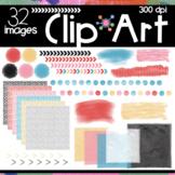 Avril Set Digital Papers Frames Dividers