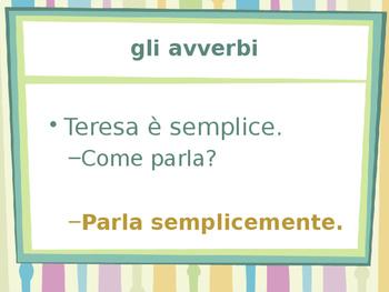 Avverbi (Italian Adverbs) power point
