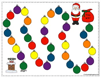 "Nonsense Word Game ""Aw - Shucks, Santa's Stuck!"" (Great for DIBELS!)"