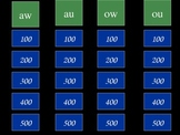 Jeopardy Diphthongs (aw au ow ou)