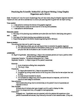 """Awakening"" the Scientific Method & Lab Report Writing in Students!"