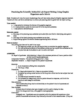 scientific report writing example Sample lab assignment below is a sample lab report assignment from a uw-madison bacteriology course we will be using a format for the lab reports which is similar (but modified) to formats.