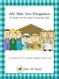 AWANA Cubbies: AAC Bible Verse Manipulatives for Non-Verba