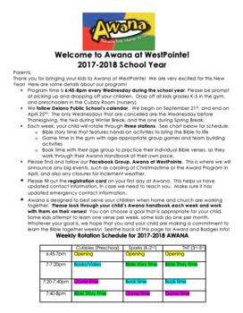 Awana Program Info Sheet {Editable for YOUR club!}