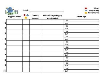 Awana Puggles Sign-In Sheet