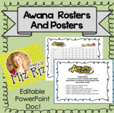 Awana Rosters and Poster