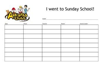 Awana Sunday School Tracker