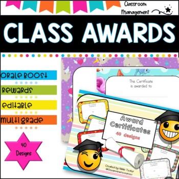 Award Certficates- great tool for Behaviour Management Sale