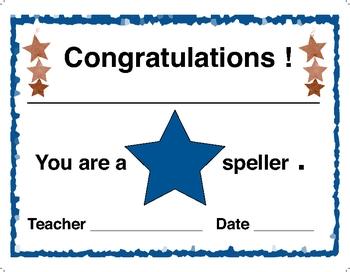 Award Certificare  -  Star Speller