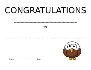 Award Certificate (Blank)