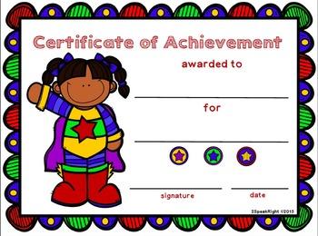 Award Certificate FREEBIE