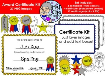 Award Certificate Kit