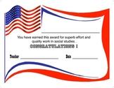 Award Certificate  -  Social Studies