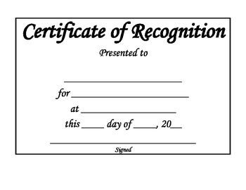 Award/ Certificate Template