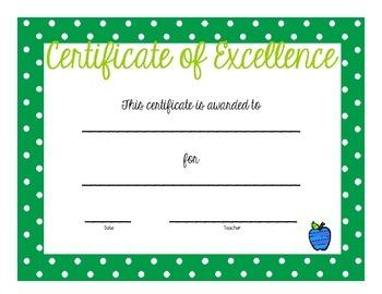 Award Certificate Variety Package