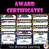Award Certificates For Distance Learning