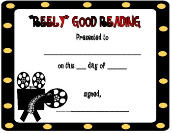 Award Certificates-Hollywood Style