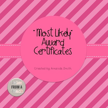 Most Likely Award Certificates: Ready to Use Stripe Printables