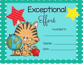 Award Certificates for Elementary Grades