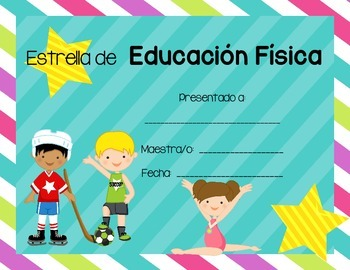 Award Certificates for Elementary Grades (Spanish Version)