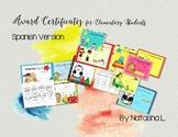 Award Certificates for Elementary Grades (Spanish Version)