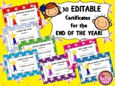 End of Year Awards - EDITABLE