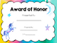 Award Certificates for End of Year, Art and More!  Printable Bundle!  Editable!