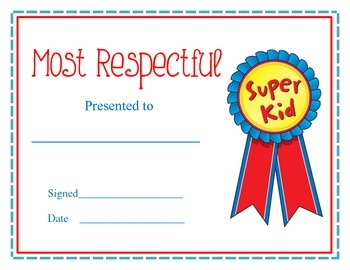 Editable Award Certificates for End of the Year Awards ...