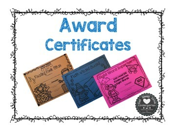 Award Certificates for Kindergarten