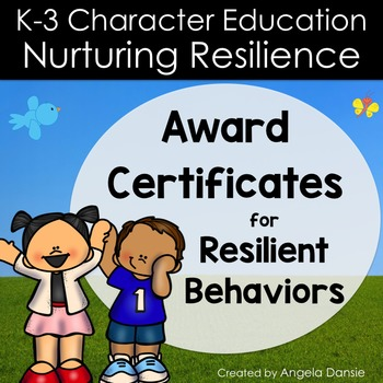 Award Certificates for Resilient Behaviors