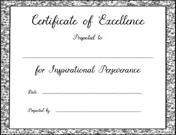 Award Certificates for Secondary Grades