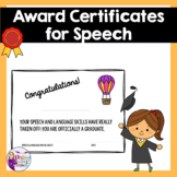 Award Certificates for Speech Therapy