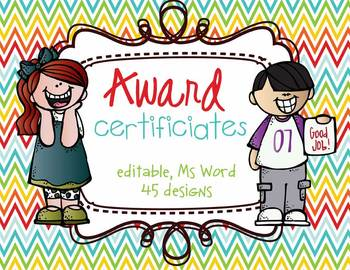 Award Certificates - you can edit, MS Word, many to chose from