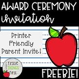 Award Invitation
