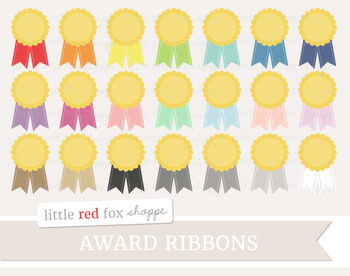Award Ribbon Clipart; Winner, Medal