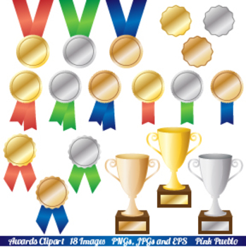 Award Ribbon Recognition Trophy Clipart Clip Art