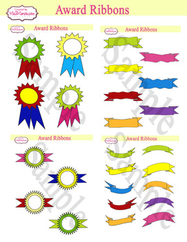 Award Ribbons Back to School Awesome Digital File Instant Download SET of 2