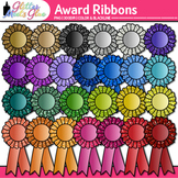 Award Clip Art | Ribbon Badges For International Games, Field Day & Races