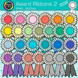 Award Clip Art {Ribbon Badges For International Games, Field Day & Races} 2