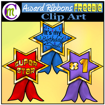 Award Ribbons Clip Art FREEBIE