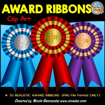 Award Ribbons Clip Art for Commercial Use