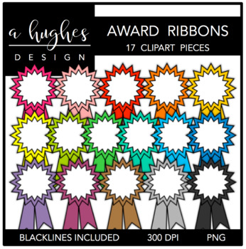 Award Ribbons Clipart {A Hughes Design}