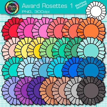 Award Clip Art {Rosette Badges For International Games, Fi