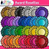 Award Clip Art {Rosette Badges For International Games, Field Day & Races}