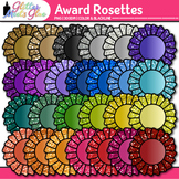 Award Clip Art | Rosette Badges For International Games, Field Day & Races