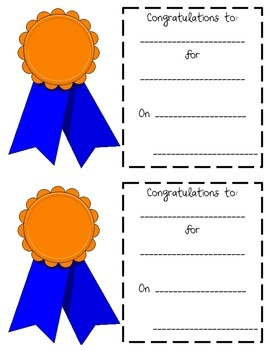 Award Sheet