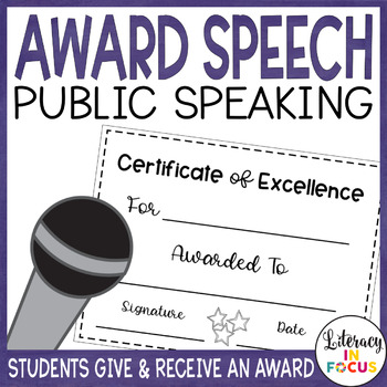 Award Speech- Public Speaking- Presenting and Receiving an Award