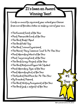 Award Winning Year FREEBIE