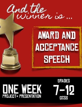Award and Acceptance Speeches -- Perfect for ANY Speech Unit-- Fun!