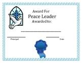 Award for Peace Leader